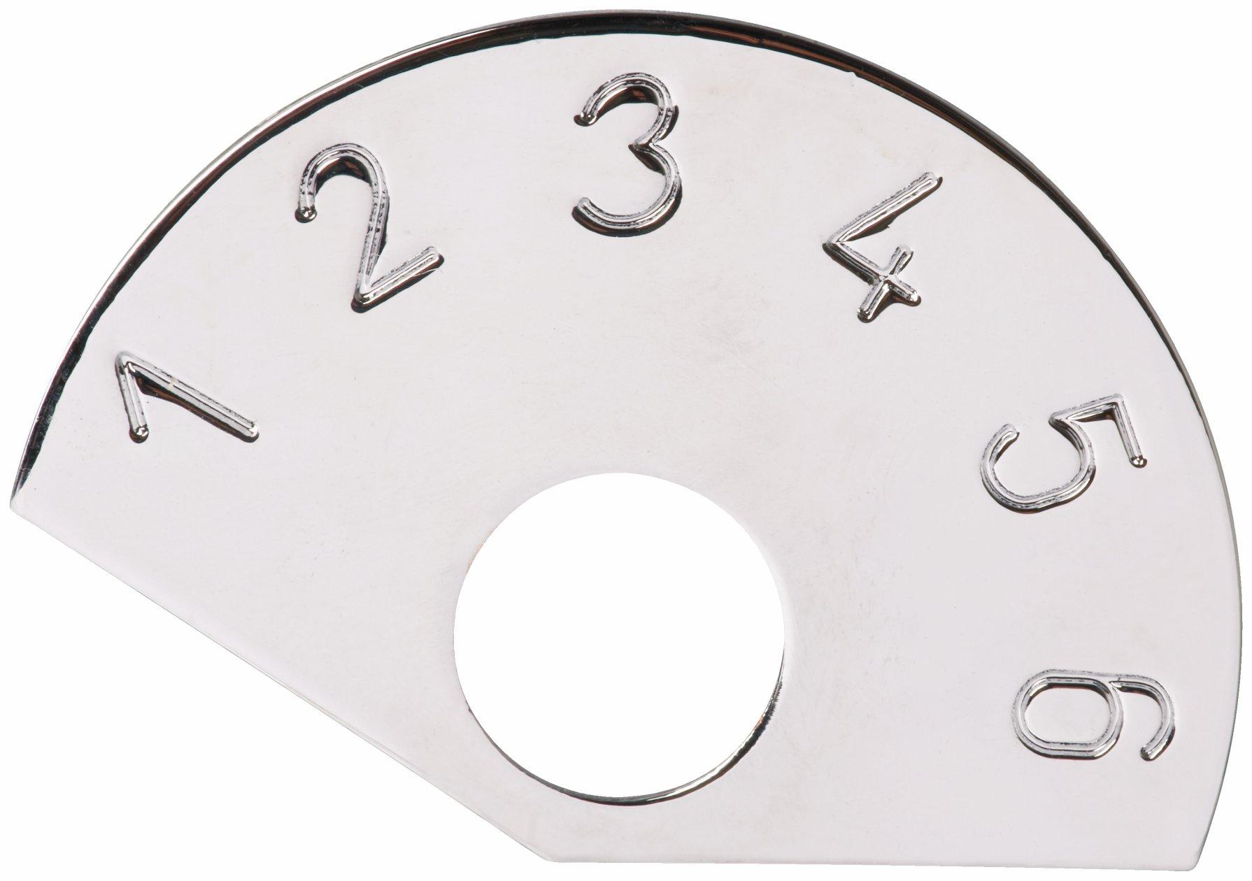 Framus Vintage Parts - 6-Position Control Plate, Silver