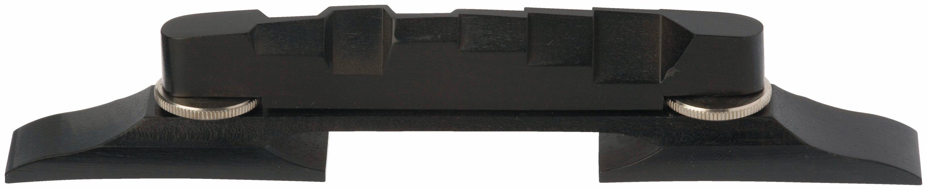 Framus Vintage Parts - Compensated Archtop Bridge, Ebony, 6-String