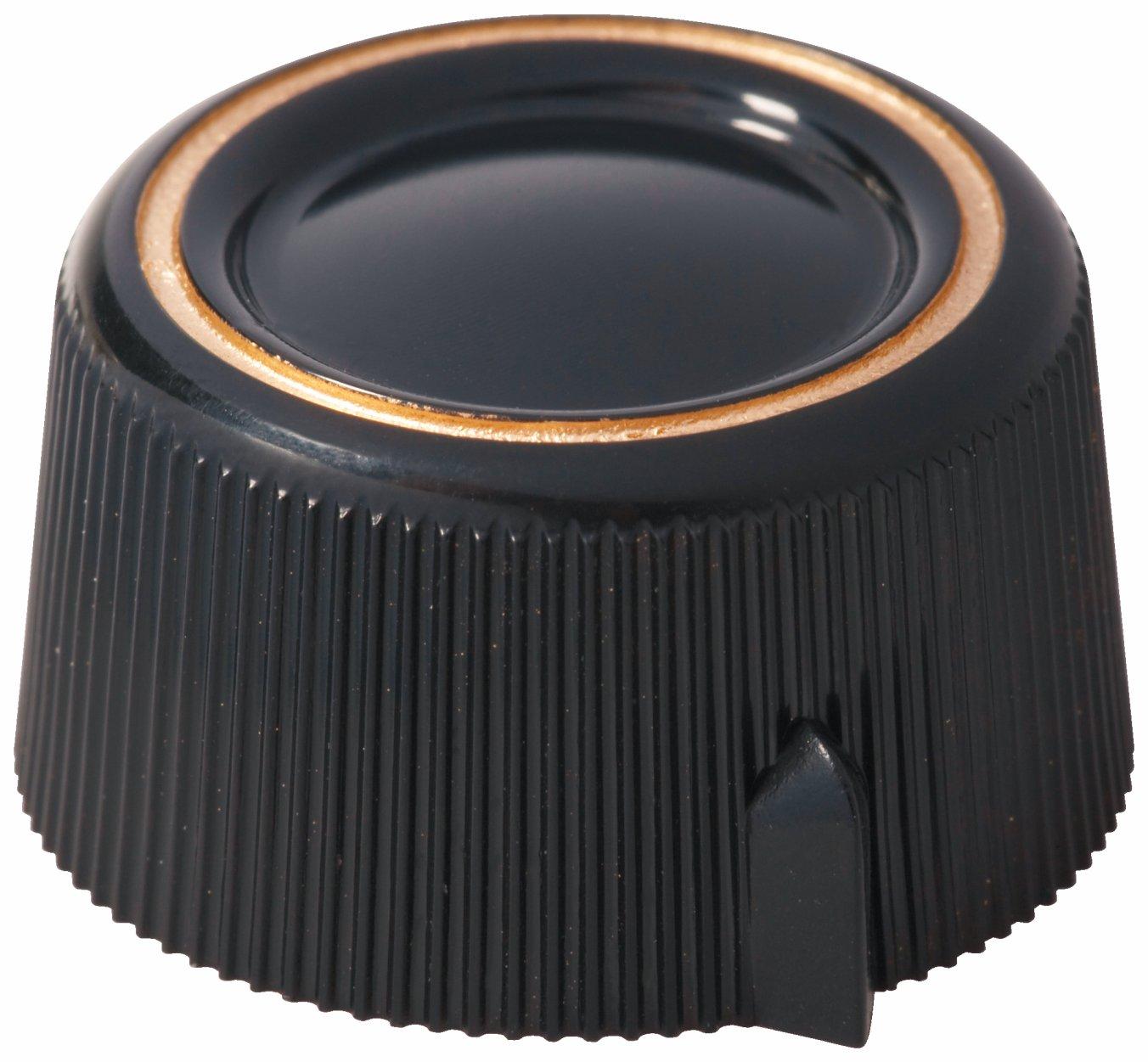 Framus Vintage Parts - Potentiometer Knob Set for Strato De Luxe Models - Black, 2 pcs.