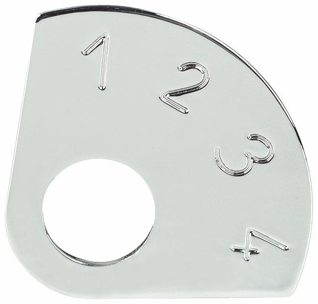 Framus Vintage Parts - 4-Position Control Plate, Chrome