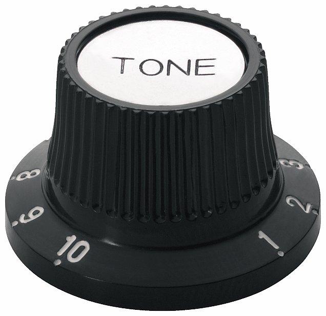 Framus Vintage Parts - Tone Knob Set - Black with Chrome Top, 2 pcs.
