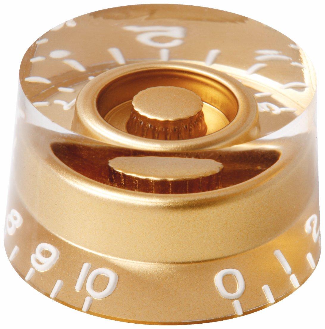 Framus Vintage Parts - Potentiometer Knob Set for Jan Akkerman & Nashville Models - Gold, 2 pcs.