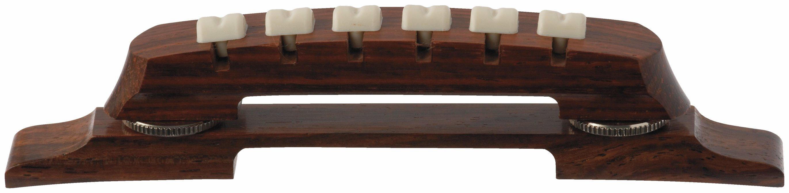 Framus Vintage Parts - Adjustable Archtop Bridge, Rosewood, 6-String