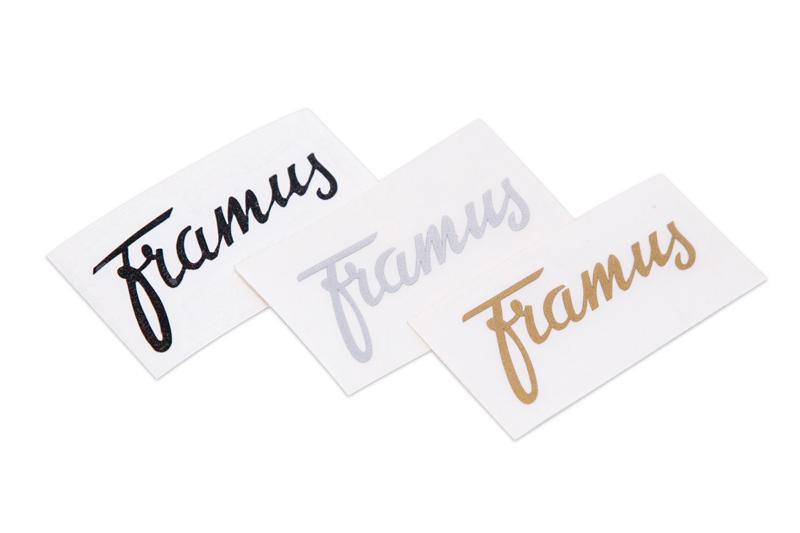 Framus Vintage Parts - Headstock Logo Decal, Silver